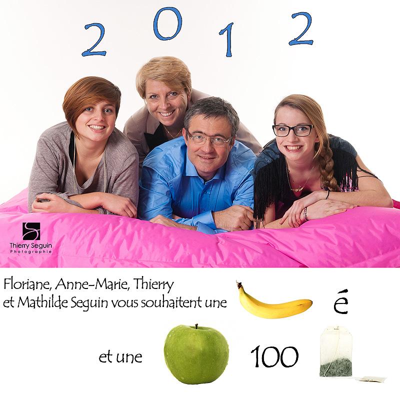 carte de voeux 2012 familiale originale